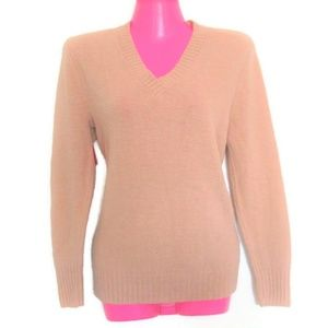 1970s vintage nude v-neck sweater size small